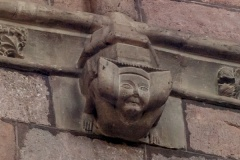 Grotesque carving, nave