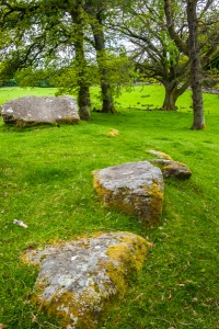 Recumbent stones on the outer circle