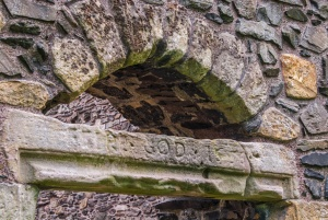 Inscription over a church doorway
