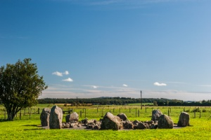 Approaching the stone circle