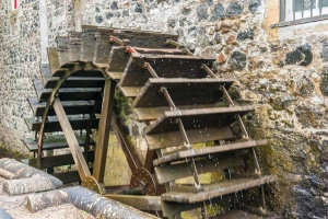 The undershot mill wheel