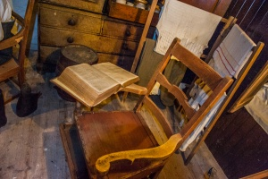 A traditional Bible chair, or reading chair