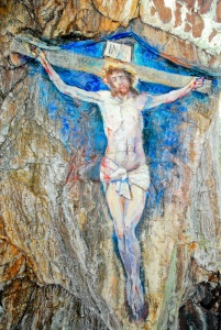 The Crucifixion painting at Davaar