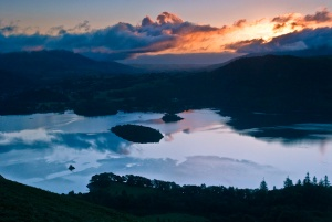 Derwentwater sunrise from Catbells