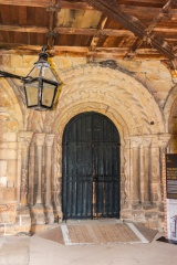 Norman doorway from the cloister to the cathedral