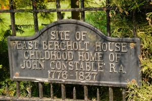 Site of Constable's childhood home in East Bergholt
