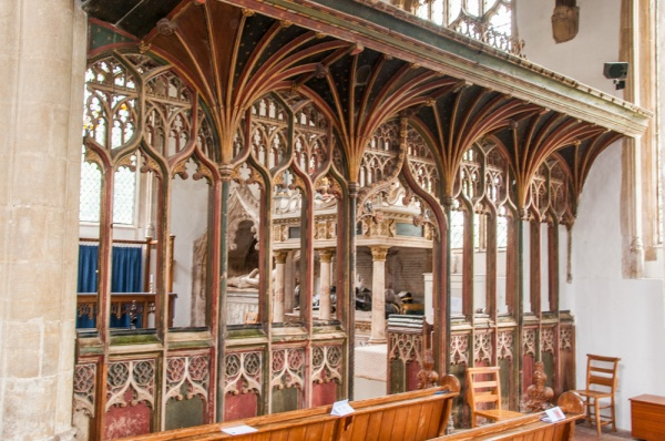 The painted medieval screen, St Peter and St Paul's Church, East Harling