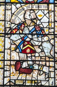 Detail of the 15th century stained glass