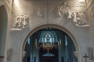 Ascension of Christ over the chancel arch