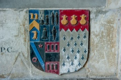 Heraldic arms, William Keyte tomb