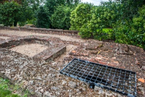 Foundations of the medieval palace