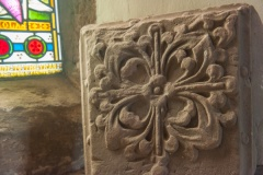 Medieval foliage carving