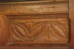 17th century carving in the chancel