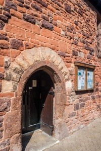 The restored medieval doorway