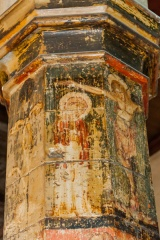 Crucifixion scene on the painted column