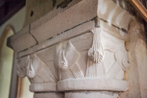 12th century chancel arch capitals