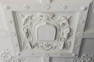 Plasterwork on the parlour ceiling