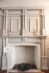 Fireplace in Sir Nicholas's bedchamber