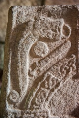 Pictish carving on the smaller stone
