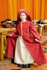 Dressing up in period costumes