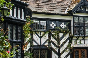 Tudor timber framing detail