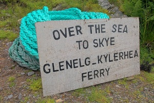 Glenelg ferry sign