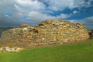 The exterior wall of the broch at Gurness