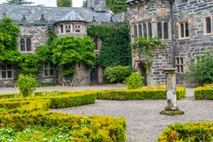 The courtyard and formal garden
