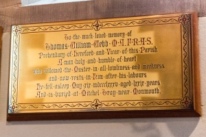 Rev. Thomas Webb memorial plaque