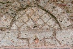 Saxon doorway lintel and tympanum