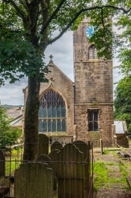 St Michael's from the Bronte Parsonage Museum