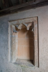 15th century niche in the porch
