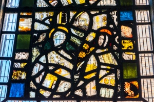 14th century stained glass fragments