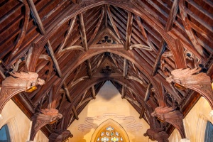 The angel roof of the chancel