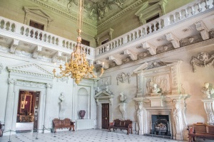 The magnificent Marble Hall at Houghton