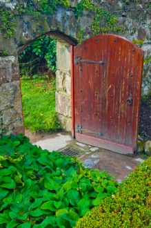 Doorway in the walled garden