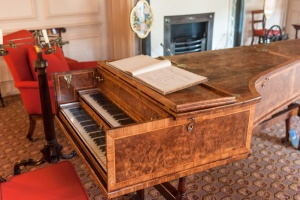 Grand piano in the sitting room
