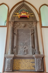 Rev. Grainger memorial, west wall