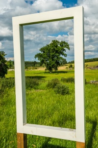 A 'window' framing the Capability Brown landscape