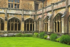 The cloister courtyard at Lacock