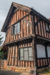 Medieval half-timbered cottage, Church Lane