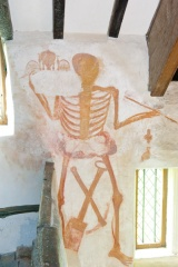 Wall painting of a skeleton