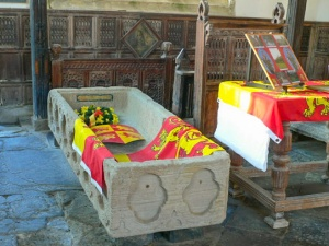 Llywelyn the Great's coffin (c) Eirian Evans