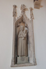 14th century statue niche, north aisle