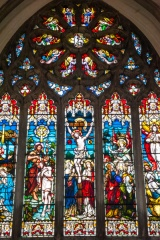 The east window, Victorian stained glass