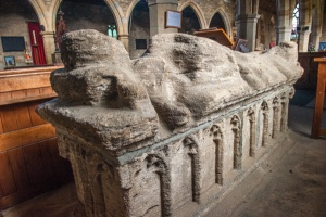 15th century effigy and tomb chest