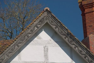 Decorative carving on the Hall gables