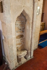 Blocked statue niche, south nave pillar