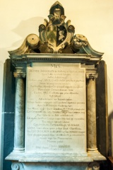 Sir Godfrey Shakerley memorial, 1696