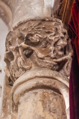 Green Man column capital